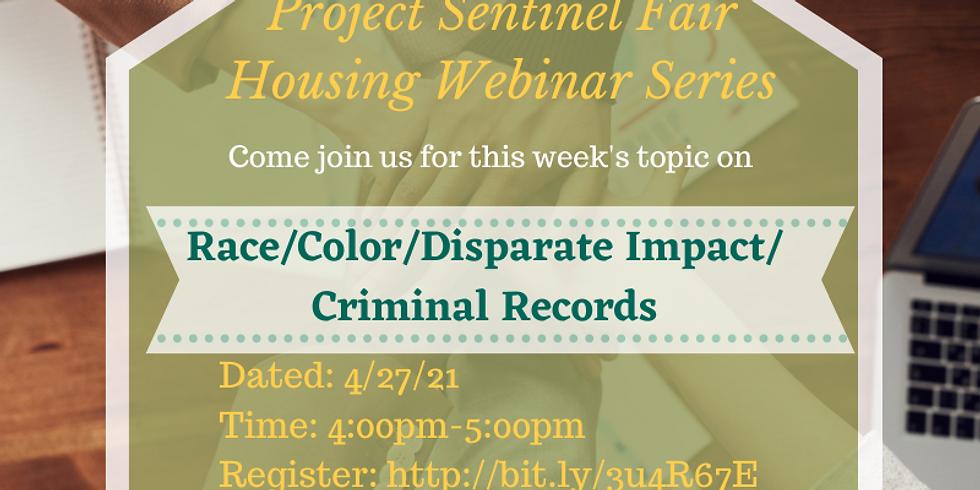 Race/Color/Disparate Impact/  Criminal Records