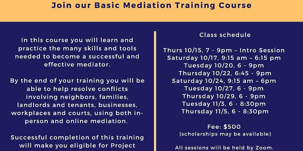 2020 Mediation Training