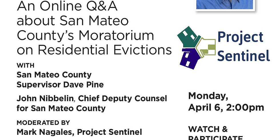 Online Q&A about San Mateo County's Moratorium on Residential Evictions