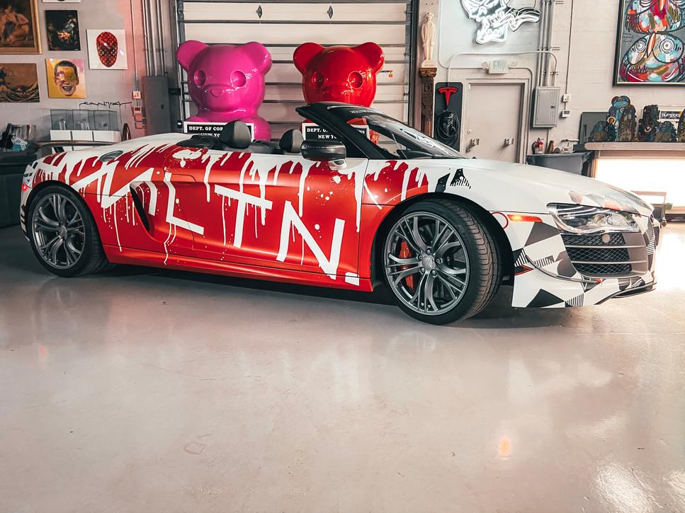 HMLTN graffiti r8 vinyl wrap hollywood hamilton clothing metrowrapz tampa exotic cars