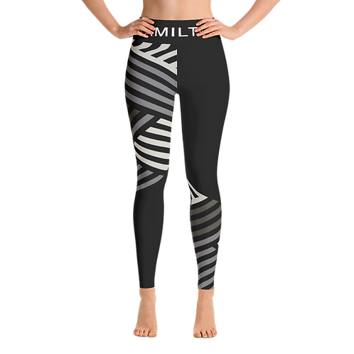 Hollywood Hamilton Clothing streetleisure collection womens leggings zig zag grey front