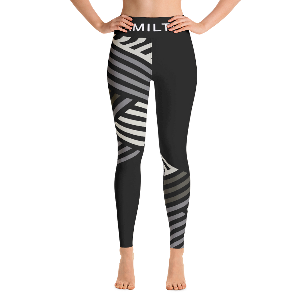 Hollywood Hamilton Clothing Women's Streetleisure Collection 2018 Army green zig zag leggings mock up