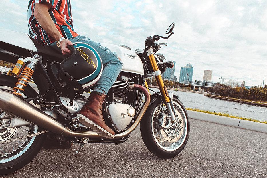 Hollywood Hamilton Motorcycle helmet custom motorcycle helmet tampa mens streetwear