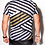 t-shirt with zig zag print and faux leather extensions hollywood hamilton clothing