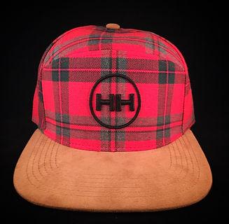 plaid hh cirlce logo snapback