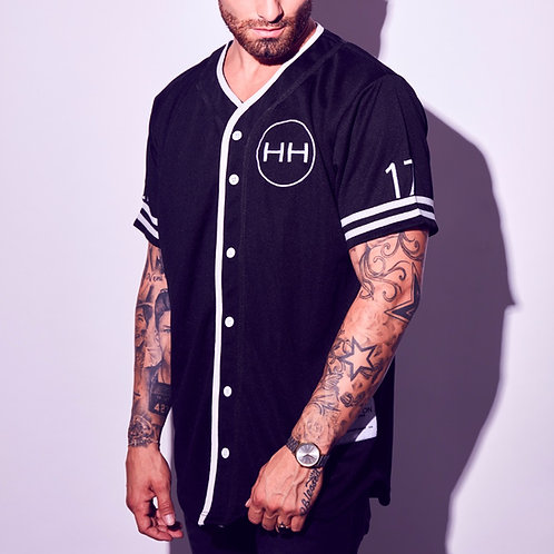 Hollywood Hamilton streetwear clothing baseball jersey black diamond buttondown tampa mens boutique hip hop baseball jersey