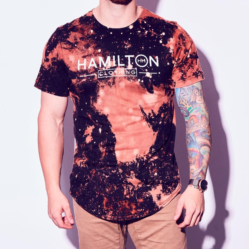 hollywood hamilton tampa mens streetwear distressed bleach tshirt