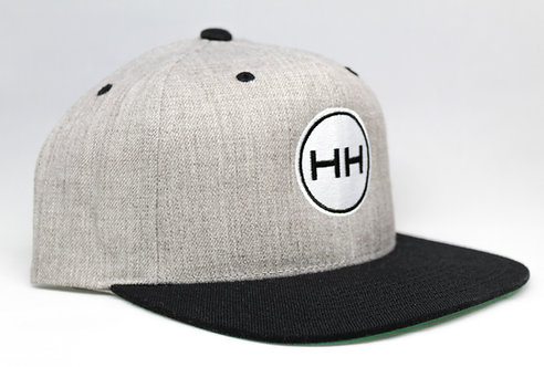 Hollywood Hamilton Heather grey black snapback hat with embroidery