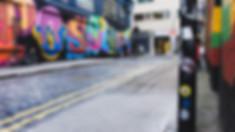 Hollywood Hamilton ybor street london shoreditch sticker bomb zig zag bene eine street art