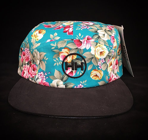 blue floral snapback hollywood hamilton front view