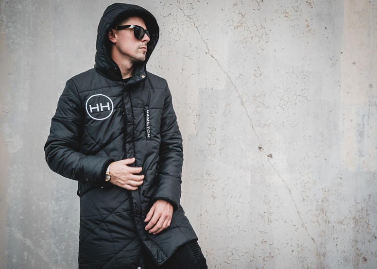 black full length parka hollywood hamilton clothing hyper black tampa streetwear