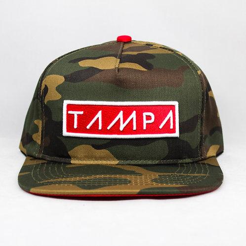Front View Hollywood Hamilton clothing tampa camo snapback hat