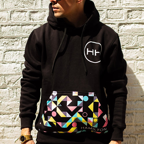 Hollywood Hamilton Abstract Hoodie front view