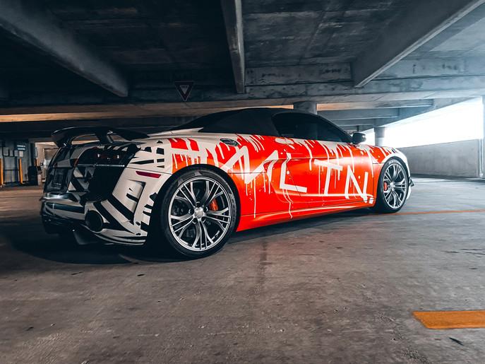 Graffiti Wrapped Audi R8 GT Hollywood Hamilton Clothing Tampa