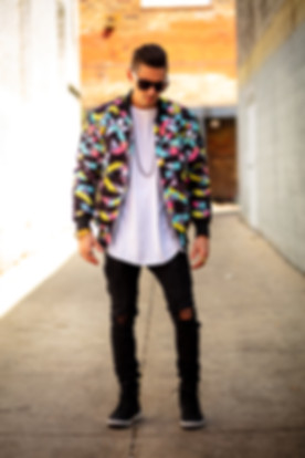 Hollywood Hamilton Abstract Bomber Jacket Tampa streewear