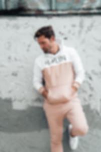 Male Model wearing HMLTN hoodie