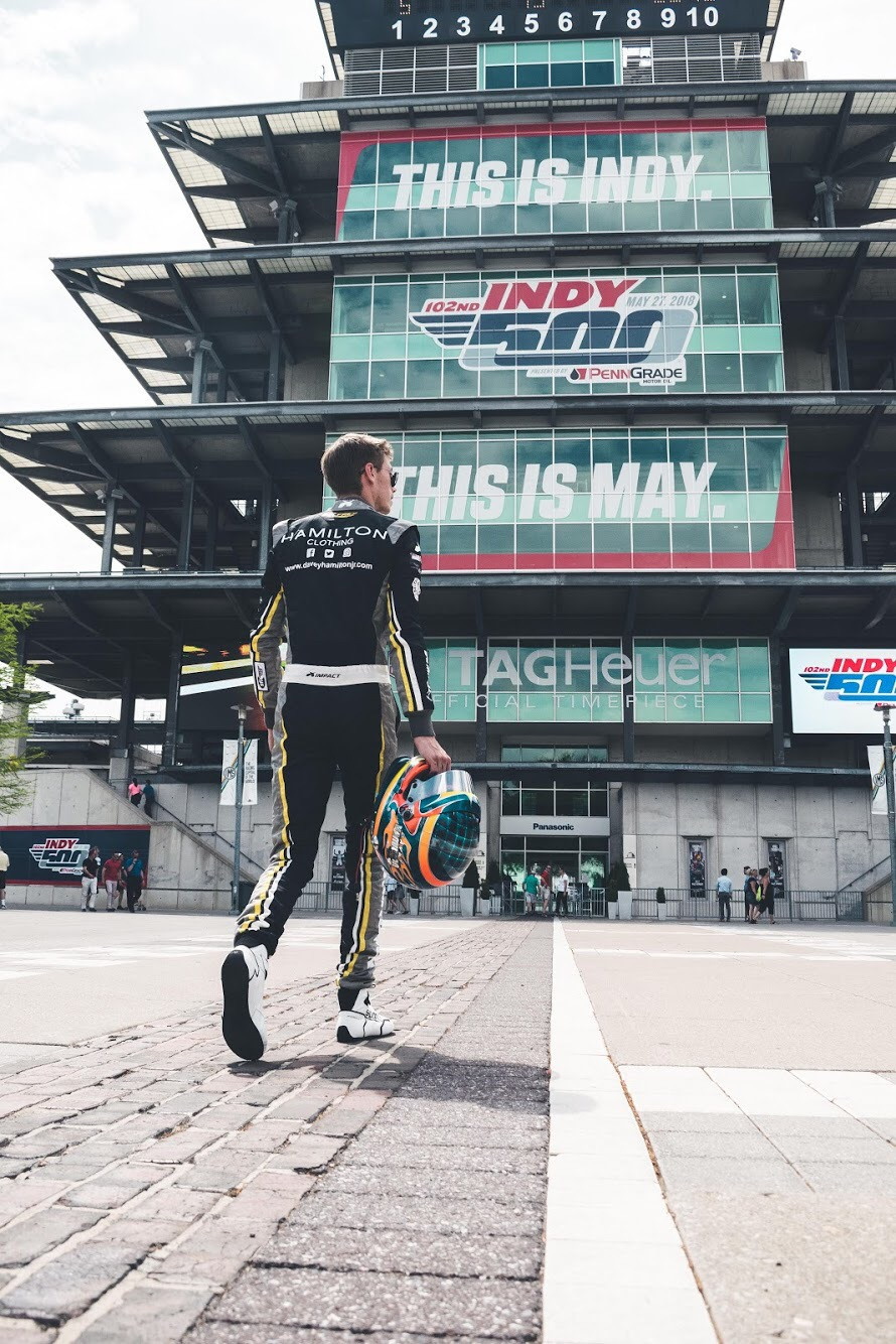 Hollywood Hamilton Clothing and Davey Hamilton Jr. take on the 2018 indy lights series race weekend at the indianapolis motor speedway.