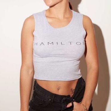 Hollywood hamilton clothing grey crop top
