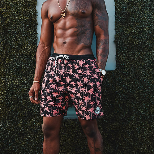 Hollywood Hamilton Guava Palms Swim Trunks front view tampa bathing suits