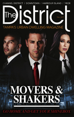 George Hollywood Hamilton, HH clothing owner featured on cover of Tampa's district magazine