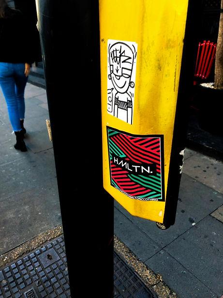 London street signal stickerbomb hollywood hamilton clothing