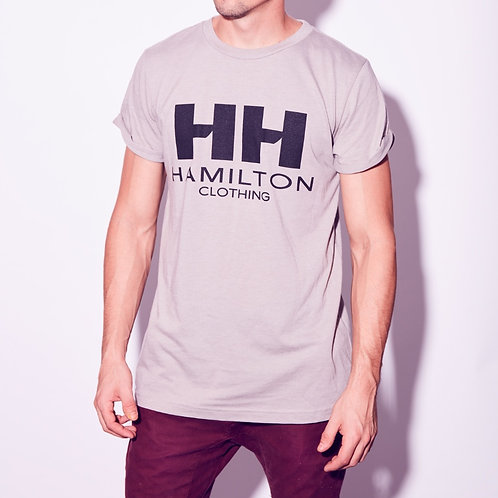 Hollywood Hamilton relaxed rolled cuff classic logo tee