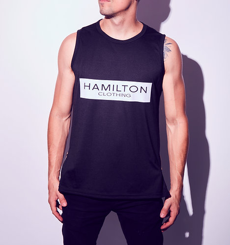 Hollywood Hamilton tank top with gold side zippers tampa florida