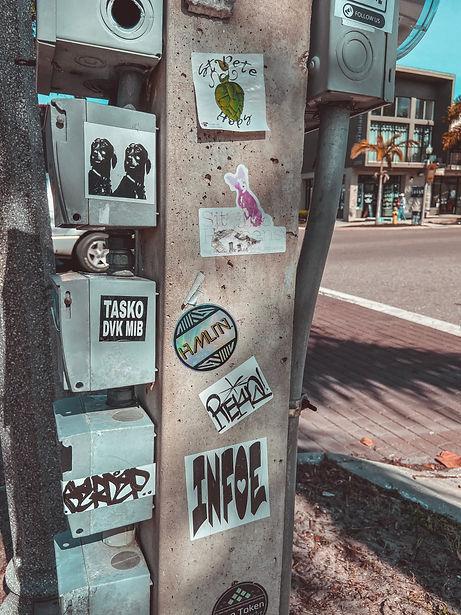 hollywood hamilton stickerbomb in st. petersburg florida