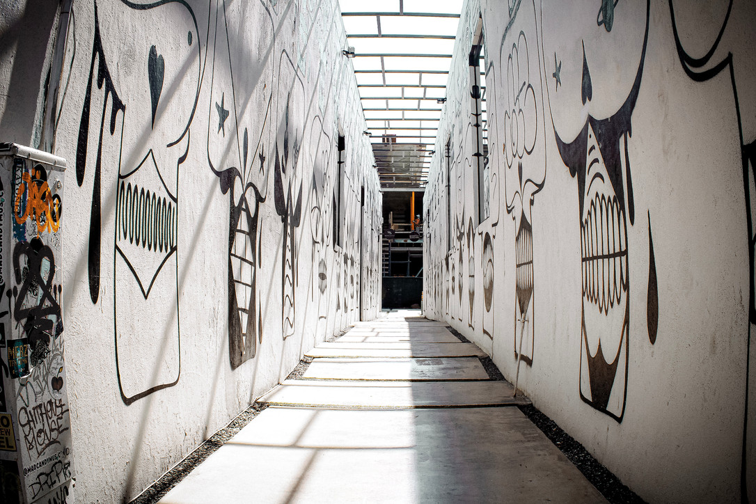 wynwood back alley covered in graffiti and street art