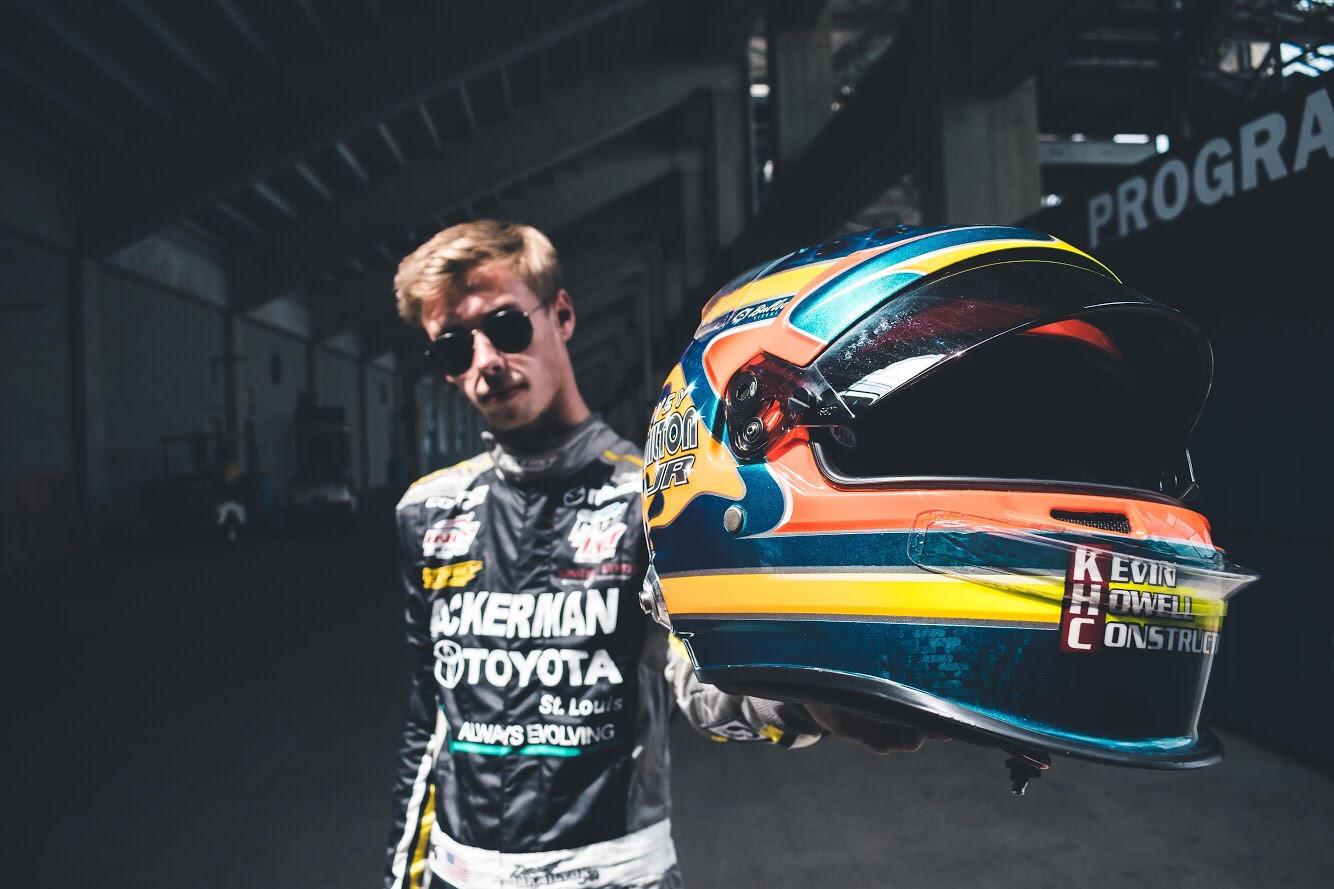 Hollywood Hamilton clothing Davey Hamilton Jr. indy lights racing race car driver.