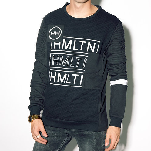 HMLTN quilted crewneck hollywood hamilton front view
