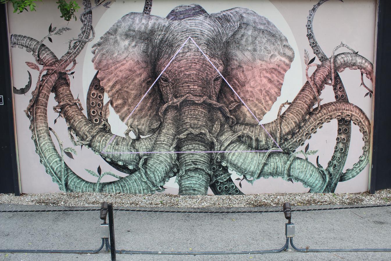hollywood hamilton clothing strret art wynwood walls elephant realismn street art mural