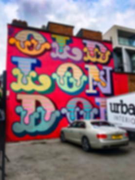 Ben Eine Old London typography street art london shoreditch district