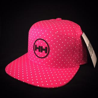 pink polka strapback