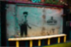 Banksy stree art guard dog policeman walking dog banksky london