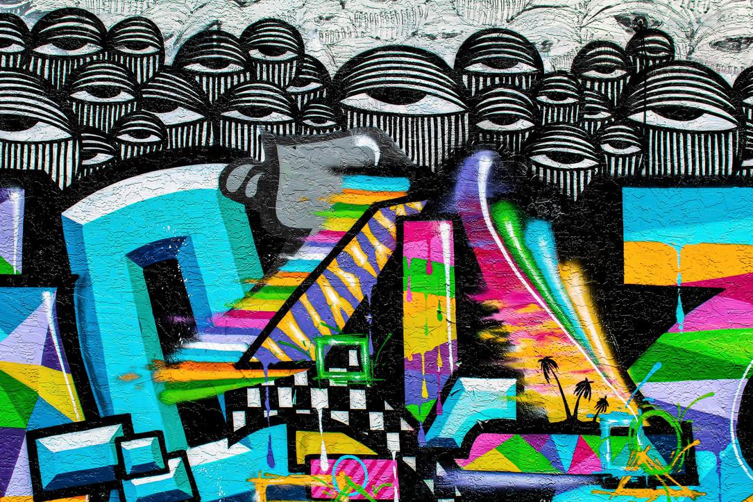 Hollywood Hamilton clothing x ahol sniffs glue mural wynwood miami street art