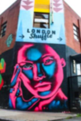 Neon effect street art london shoreditch