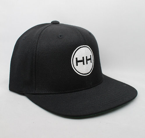 hollywood hamilton black snapback hat side view