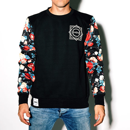 Hollywood Hamilton floral long sleeve crewneck sweatshirt, floral sweatshirt, floral sleeve shirt, tampa streetwear