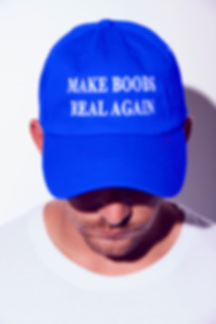 Make Boobs real again trump MAGA hat parody