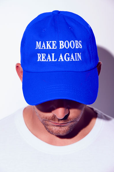 Make Boobs real again trump MAGA hat parody
