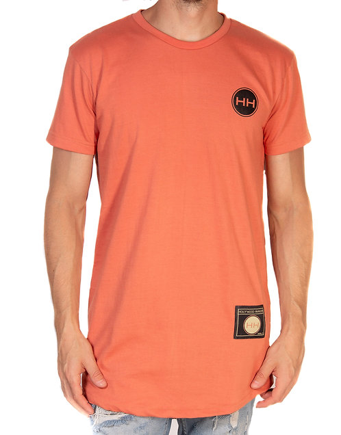 Hollywood Hamilton salmon colored t shirt tampa streetwear