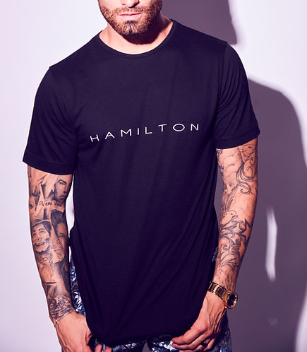 Basic hamilton teardrop tee front view
