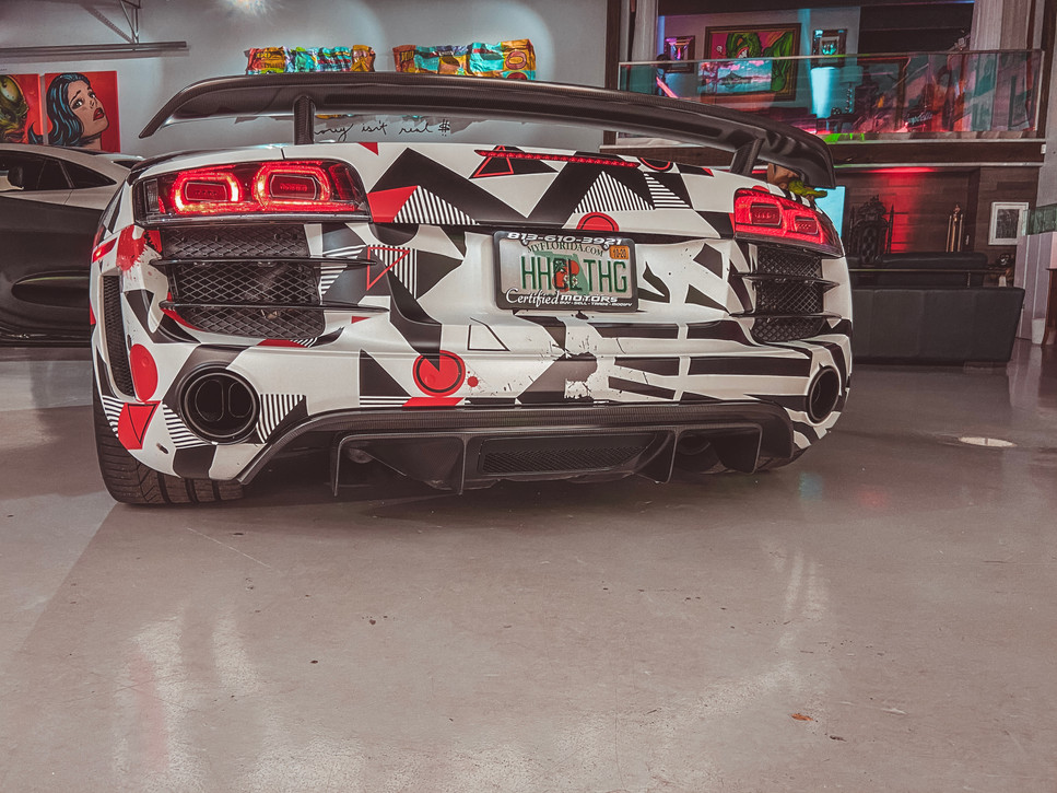2012 audi r8 gt wrapped by metrowrapz for Hollywood Hamilton Clothing