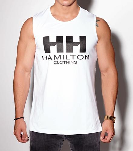 classic hamilton logo zip tank front view