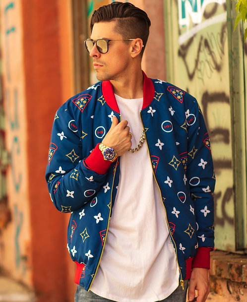 'All-American Gourmet Pizza' Bomber Jacket