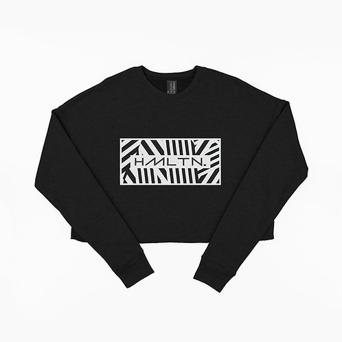 Hollywood Hamilton Zig Zag Crop crewneck sweatshirt women's