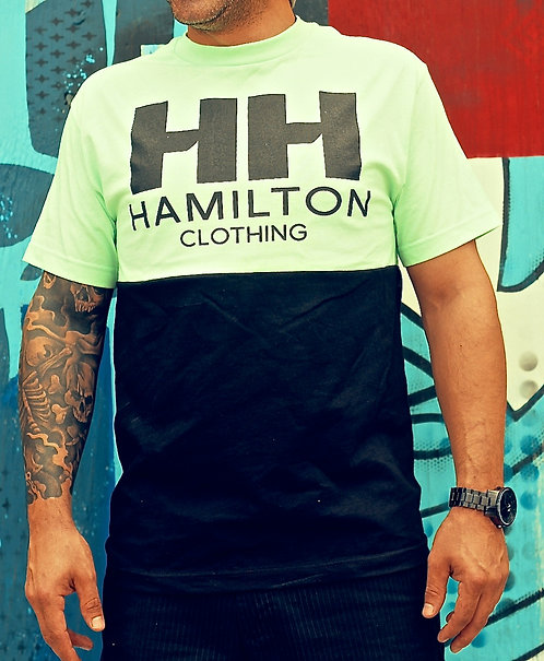 front view minty fresh tee black logo
