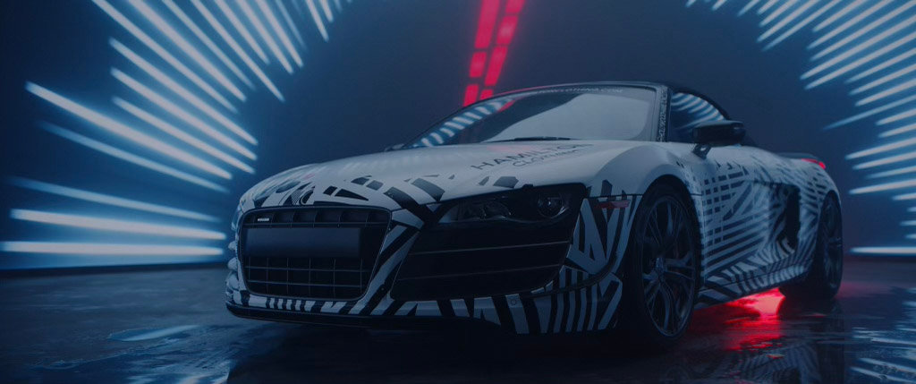 Audi R8 GT #147 limited edition Hollywood Hamilton zig zag wrap by Metrowrapz