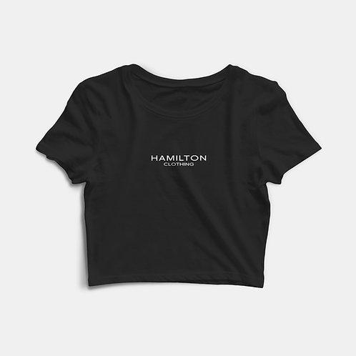 Hollywood Hamilton basic black crop tee